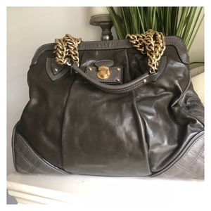 Marc Jacobs leather Olive w/ gold hardware.